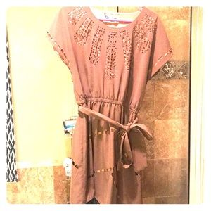 Chocolate mini dress